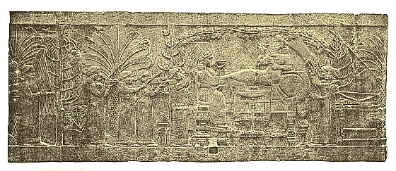 Assyria - Ashurbanipal and his Queen Relief