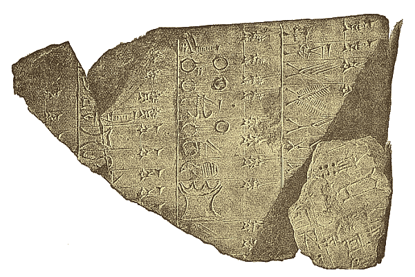Sumer - Hieroglyphs and Cuneiform Tablet