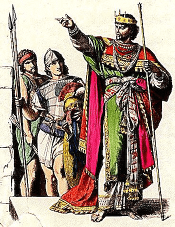 Israel - Jewish King and Soldiers Drawing