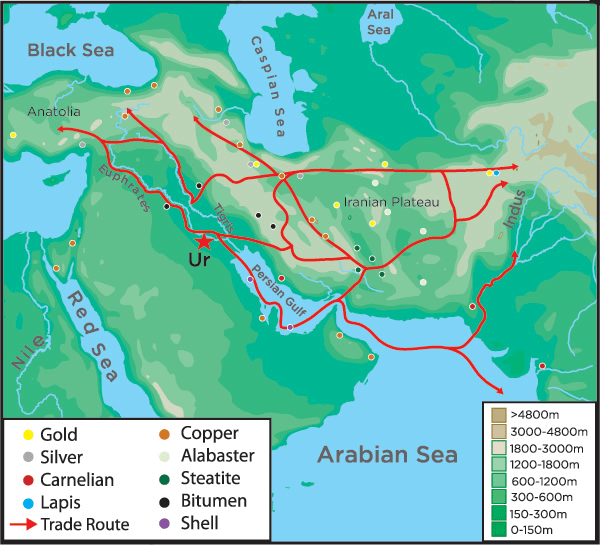 Sumer - Sumer and Harappan Trade Routes