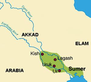 Sumer - Sumer Map
