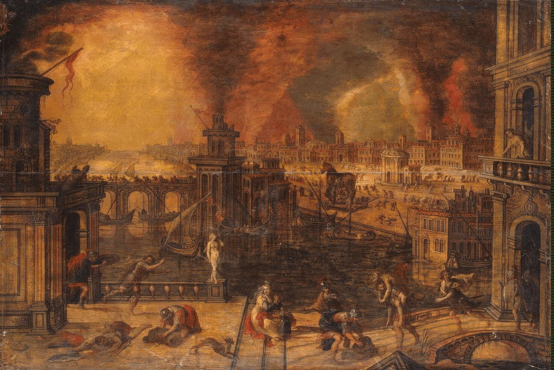 Ancient History - Fall of Troy (Kerstiaen de Keuninck 17th Century)