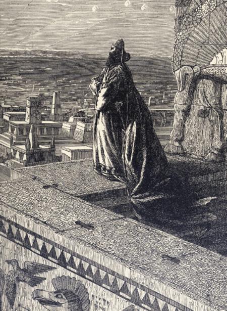 Hanging Gardens of Babylon - Nebuchadnezzar Overlooking Babylon