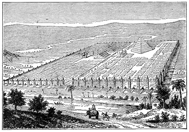 Babylonia - City of Babylon Drawing