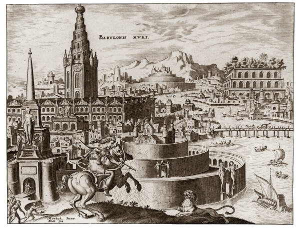 Structures - Hanging Gardens of Babylon (Maerten van Heemskerck 1572)
