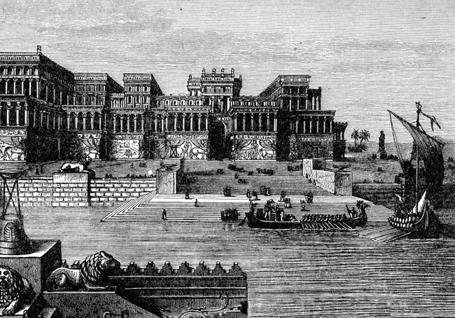 Assyria - Palace of Ashurnasirpal Drawing